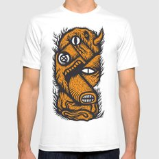 Le mangeur - the print! MEDIUM Mens Fitted Tee White