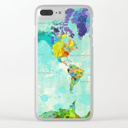 World Map - 8 Clear iPhone Case