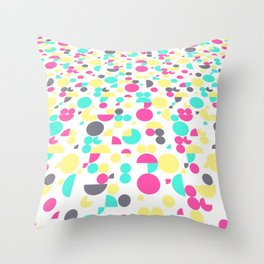 New Game,white colorful. Throw Pillow