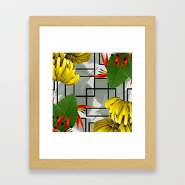 Tropical Squares Framed Art Print