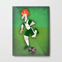 Soccer Unicorn Metal Print