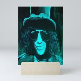 hat and glasses Mini Art Print