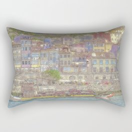 Old houses, Porto, Portugal Rectangular Pillow
