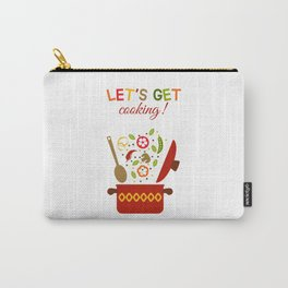 Fresh vegetables in pan Carry-All Pouch