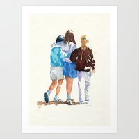 best friends Art Prints featuring Best Friends by MadDog