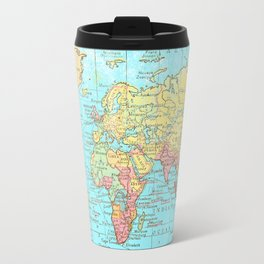 Map of the World Travel Mug