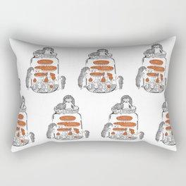 Hedgehog Amanita Mushroom Rectangular Pillow