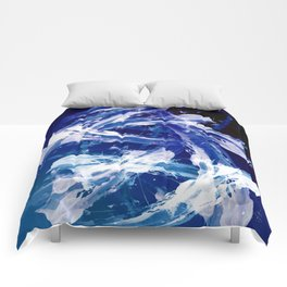 Snowy Abstract Painting Comforters