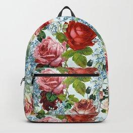 Spring Vintage Botanical Flower Pattern Backpack
