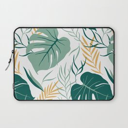 Tropical Pattern Green Gold Laptop Sleeve