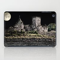 downton abbey iPad Cases featuring Inchcolm Abbey  by Valerie Paterson