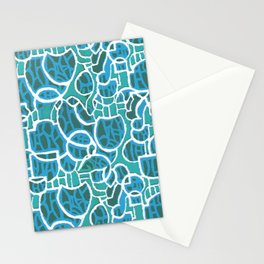 Bubbles Blue Stationery Cards