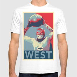 60's Adam West Bat Pop Art Poster Print T-shirt