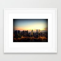 singapore Framed Art Prints featuring Singapore by Michael S.