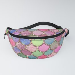 Colorful Pink Mermaid Scales Fanny Pack