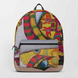 Simetria de un rostro Backpack