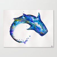 celestial Canvas Prints featuring Celestial  by Marc Allante