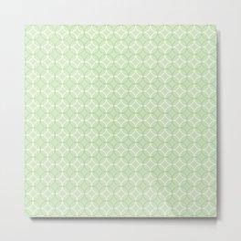 Green Circles Pattern Metal Print