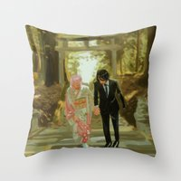 sasuke Throw Pillows featuring this place of mine by baasama