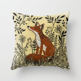 The Colney Fox Throw Pillow