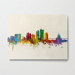 Cedar Rapids Iowa Skyline Metal Print