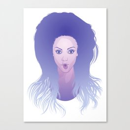 Funny face: Tyra Banks Canvas Print