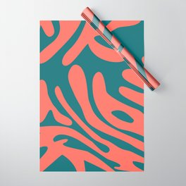 Living Coral in the Deep Sea - Pantone Color Trend 2019 Wrapping Paper