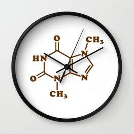 Chocolate Theobromine Molecule Chemical Formula Wall Clock