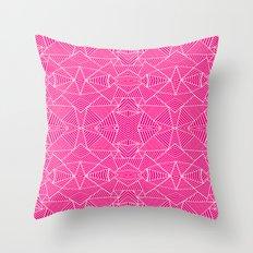 Ab Zoom Mirror Fushia Throw Pillow