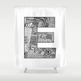 Cutout Letter E Shower Curtain
