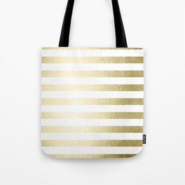 Simply Striped Gilded Palace Gold Tote Bag