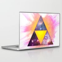 triforce Laptop & iPad Skins featuring Cosmic Triforce by Spooky Dooky