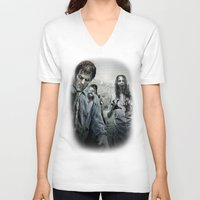 the walking dead V-neck T-shirts featuring Zombie by Joe Roberts