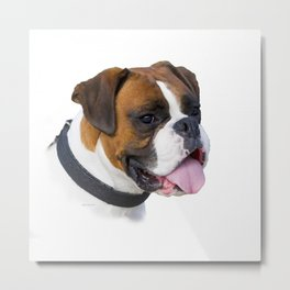 A Boxer Dog By Annie Zeno Metal Print
