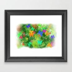 jungle nehir umay çoruh Framed Art Print