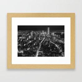 New York at Night Framed Art Print