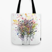 junk food Tote Bags featuring Junk Food  by Sam Corona