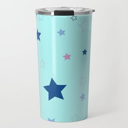 Little blue stars Travel Mug