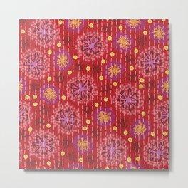 Kantha floral 5 Metal Print
