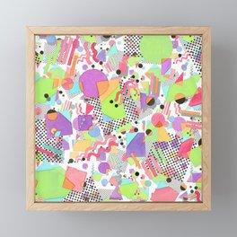 Rad Retro Party Framed Mini Art Print