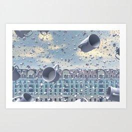 A Muggy Day In Paris Art Print