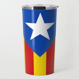 Estelada Blava - Senyeraestelada, HQ Banner version Travel Mug