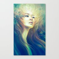crown Canvas Prints featuring Crown by Anna Dittmann