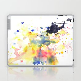 Helicopter Flying into Color Laptop & iPad Skin