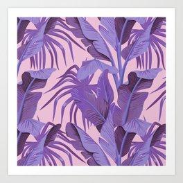 Tropical '17 - Starling [Banana Leaves] Art Print