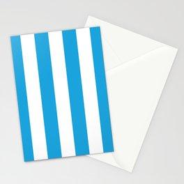 Oktoberfest Bavarian Blue and White Large Cabana Stripes Stationery Cards