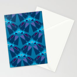 Art Deco Blues Stationery Cards