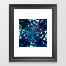 Blue kaleidoscope Framed Art Print