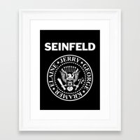 seinfeld Framed Art Prints featuring Seinfeld by WITHDRAWN