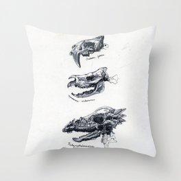 Dino Skull Study no.1 Throw Pillow